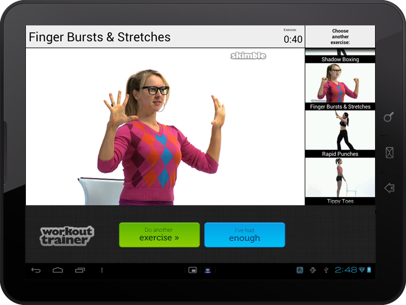 Skimble demos YouTube Android Player API video integration at Google