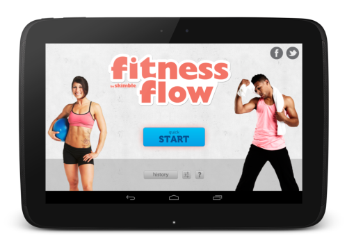 Skimble_fitness_flow_android_app_home