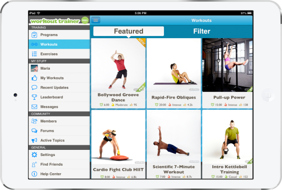 skimble-workout-trainer-side-menu