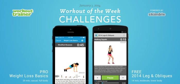 Skimble's Workout of the Week Challenges - Jan 1st, 2014