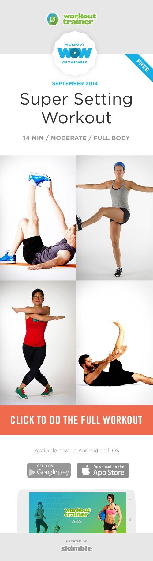 Super Setting Workout by Skimble