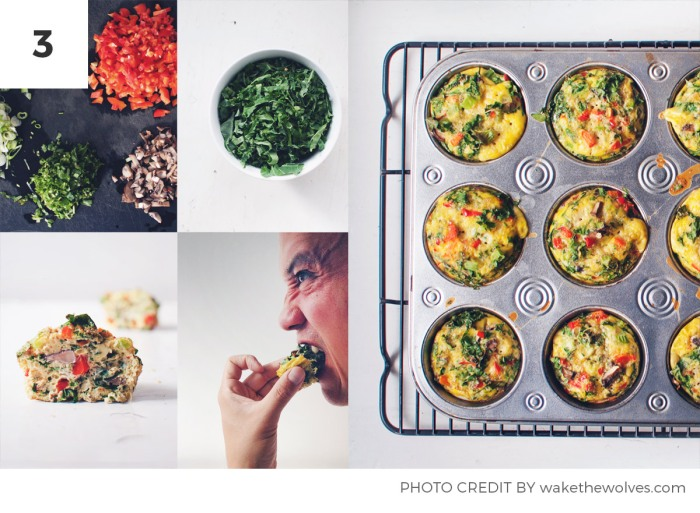 Kale Recipes for Weight Loss - Kale and Egg Muffins