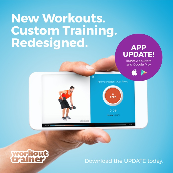 Workout Trainer App Update on iTunes App Store and Google Play