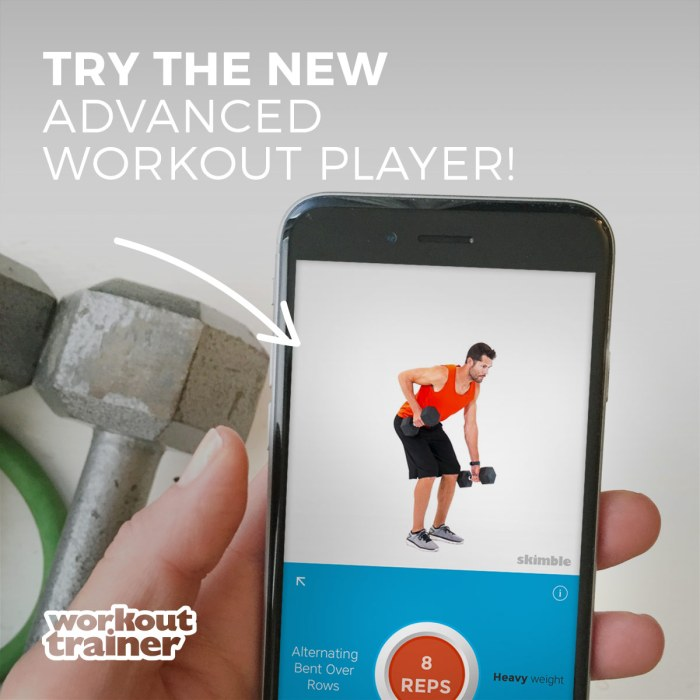 Skimble Workout Trainer - Advanced Custom Media Player