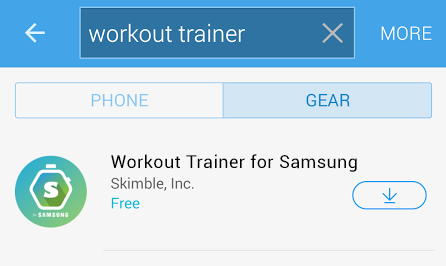 Workout Trainer for Samsung - watch companion app - Gear Manager App Download