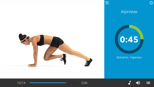 Entrenador Personal - Workout Trainer // ejercicios alpinistas
