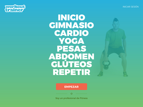 Entrenador Personal - Workout Trainer // empezar