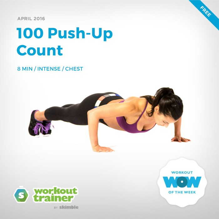 Skimble's Workout of the Week: 100 Push-Up Count