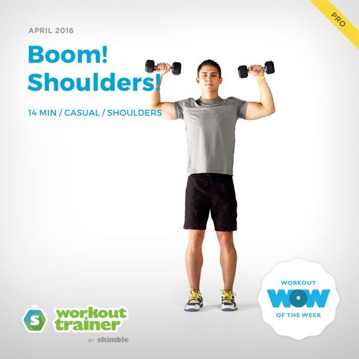 Skimble's Pro Workout of the Week: Boom! Shoulders!