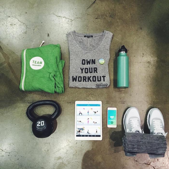 What do you use to work out? Take a bird's eye view pic of your training space!