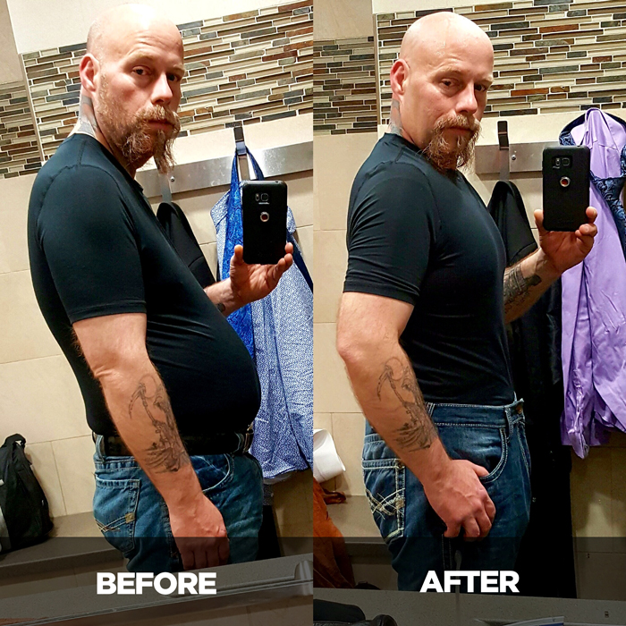 Skimble's Active Trucker Program participant success story - before and after photo