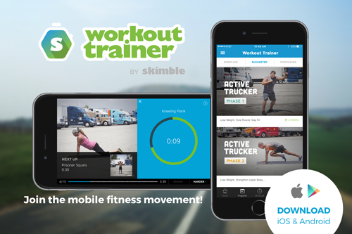 Skimble Workout Trainer - Active Truckers - truck driver health and fitness programs - mobile app