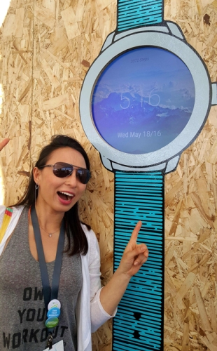 Team Skimble makes an Android Wear watchface at Google I/O 2016 #io16