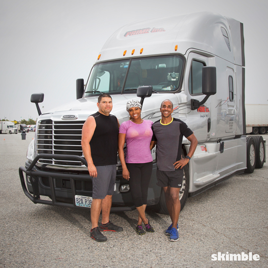 Team Skimble collaborates with Active Trucker - long haul truck driver programs