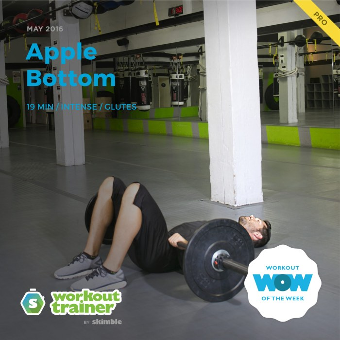 Skimble's Pro Workout of the Week: Apple Bottom
