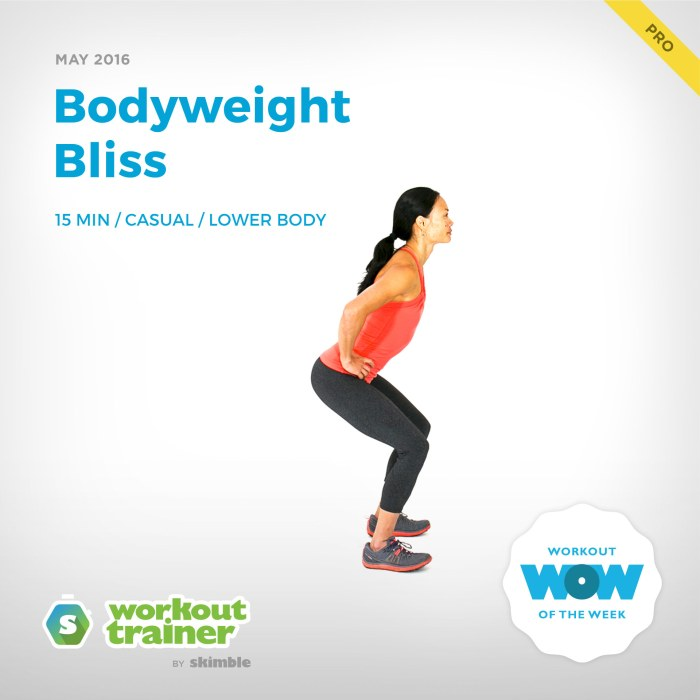 Skimble's Pro Workout of the Week: Bodyweight Bliss