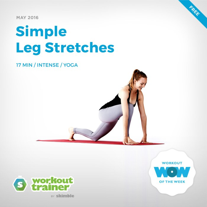 Skimble's Workout of the Week: Simple Leg Stretches