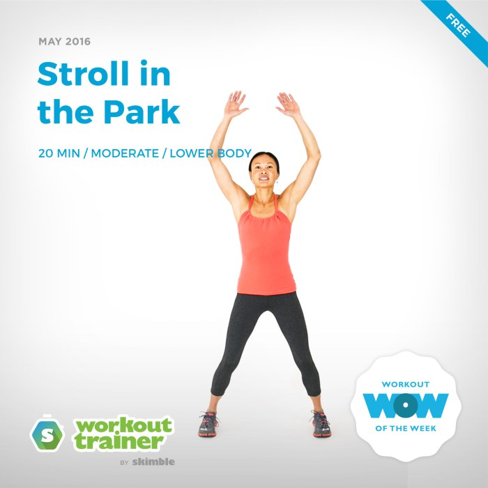Skimble's Workout of the Week: Stroll in the Park