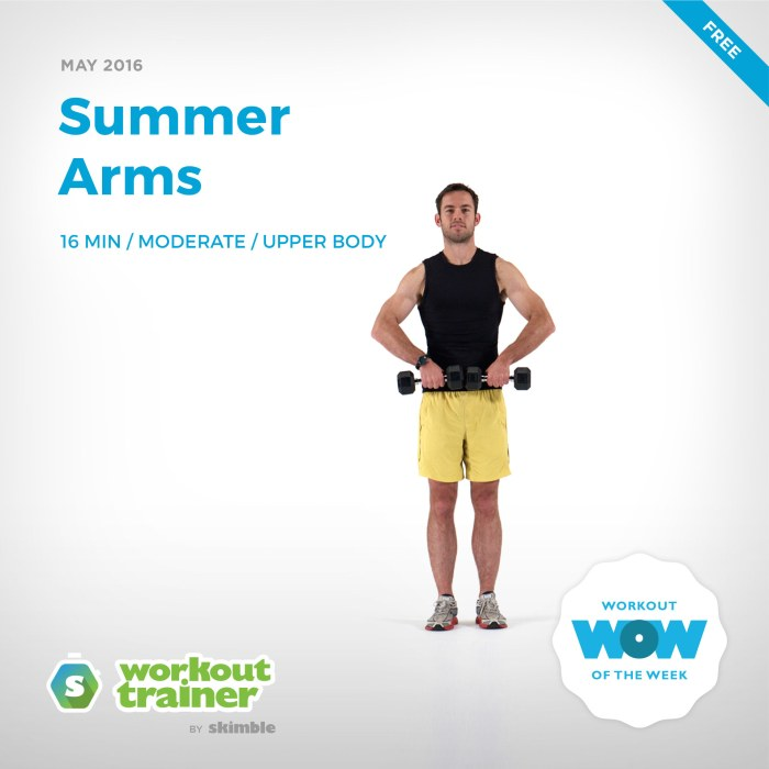 Skimble's Workout of the Week: Summer Arms