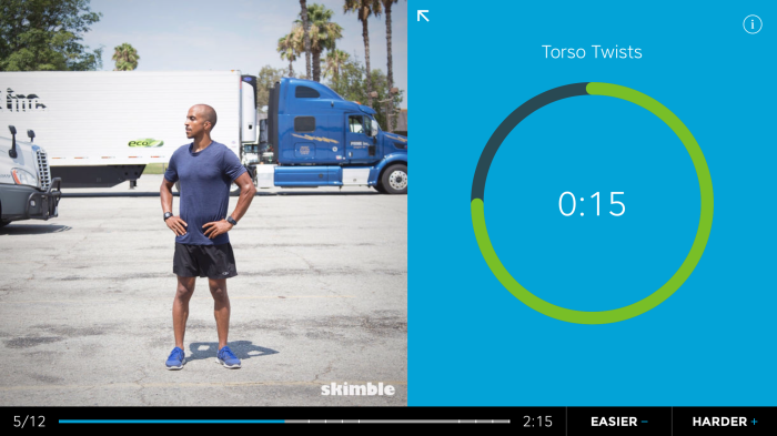 Active Trucker Programs available in Skimble's Workout Trainer app