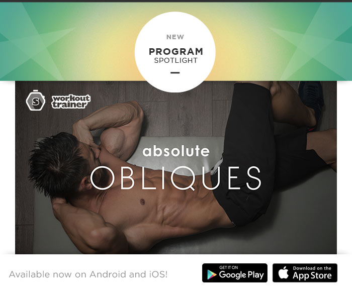 Skimble's Absolute Obliques training program in Workout Trainer