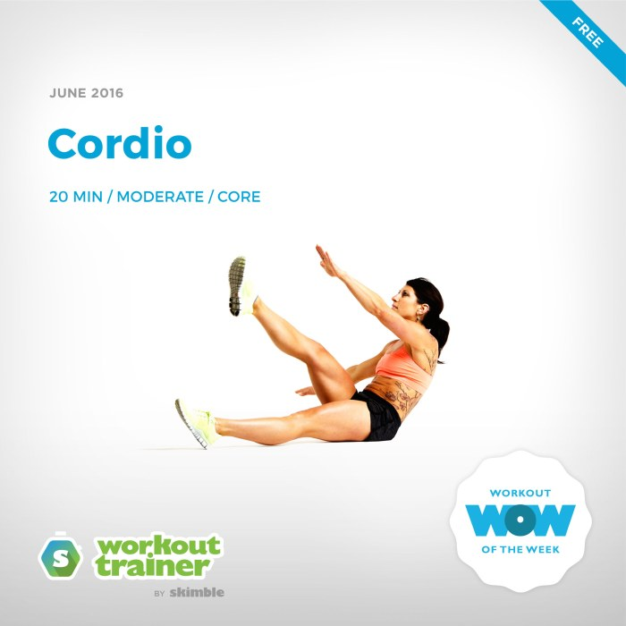 Skimble's Workout of the Week: Cordio