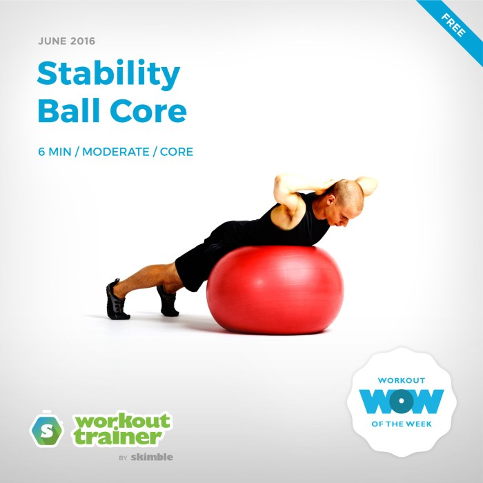Skimble's Workout of the Week: Stability Ball Core