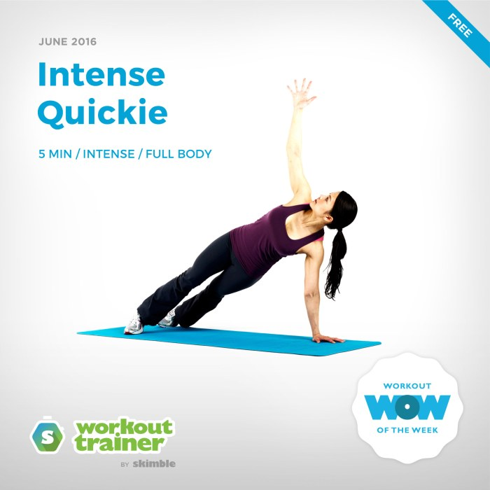 Skimble's Workout of the Week: Intense Quickie