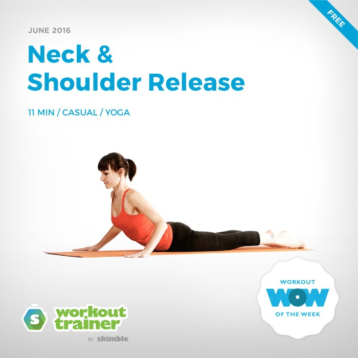 Skimble's Workout of the Week: Neck & Shoulder Release