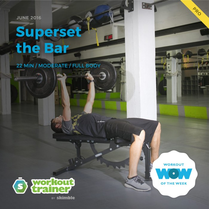 Skimble's Pro Workout of the Week: Superset the Bar
