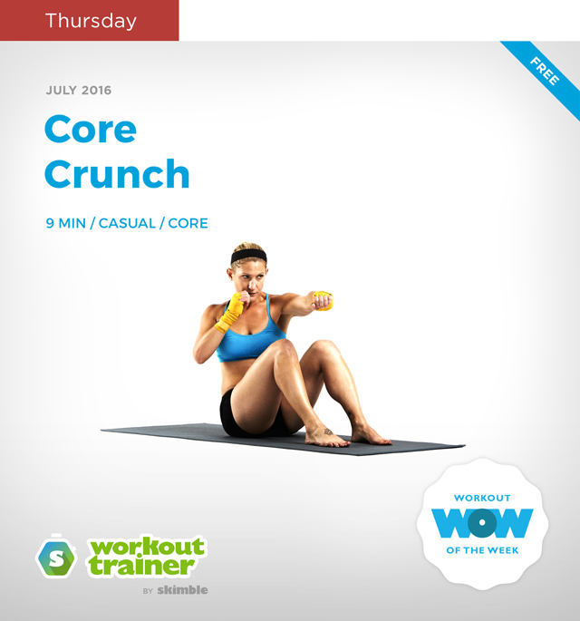 Workout Trainer by Skimble: Mini Series: Kick-Off Mania: Core Crunch