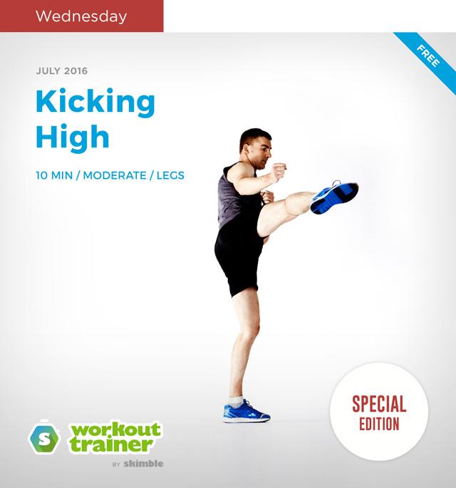Workout Trainer by Skimble: Mini Series: Kick-Off Mania: Kicking High