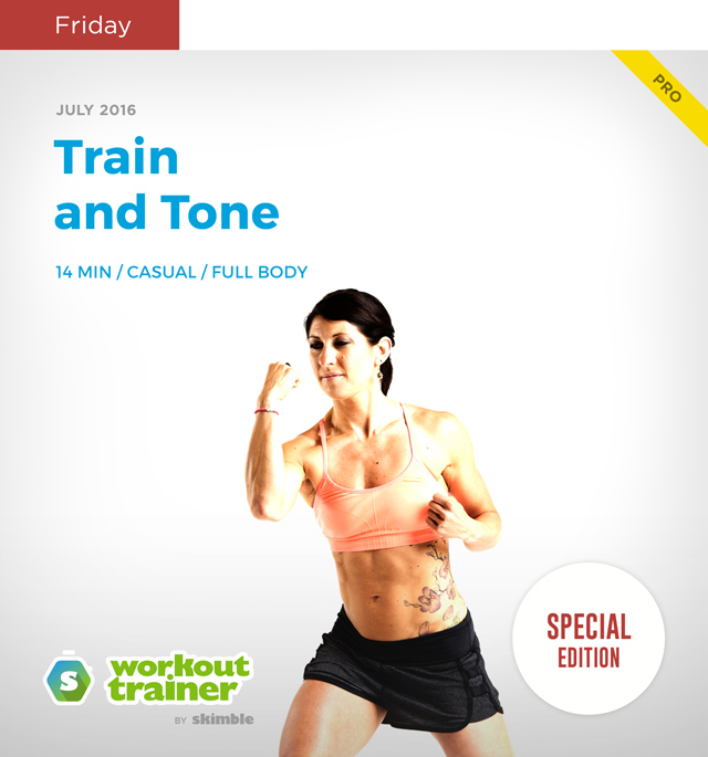 Workout Trainer by Skimble: Mini Series: Kick-Off Mania: Train and Tone