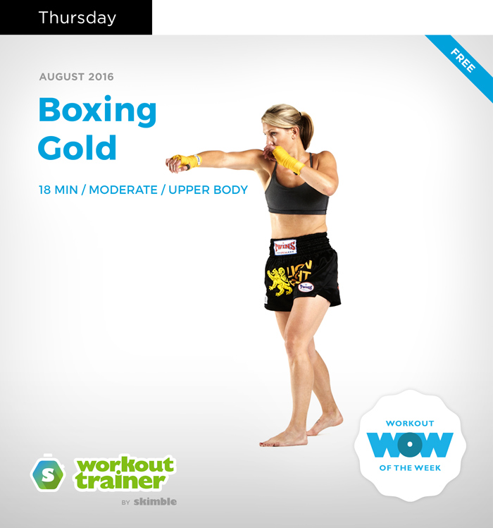 Workout Trainer by Skimble: Olympic Gold Series: Boxing Gold