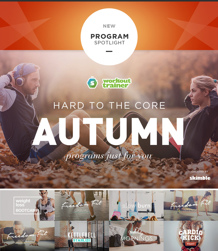 Workout Trainer by Skimble: New Fall Programs Announcement