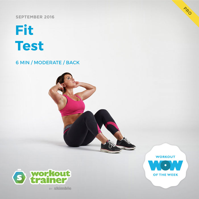 Workout Trainer by Skimble: Pro Workout of the Week: Fit Test