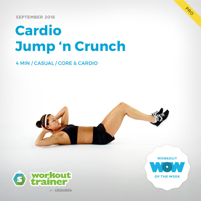 Workout Trainer by Skimble: Pro Workout of the Week: Cardio Jump 'n Crunch