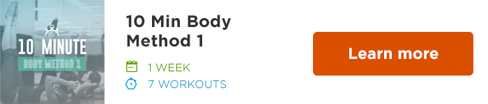 Workout Trainer by Skimble: Program Spotlight: 10 Min Body Method 1