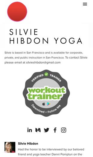 Workout Trainer by Skimble: Verified Trainer Badge: Silvie Hibdon