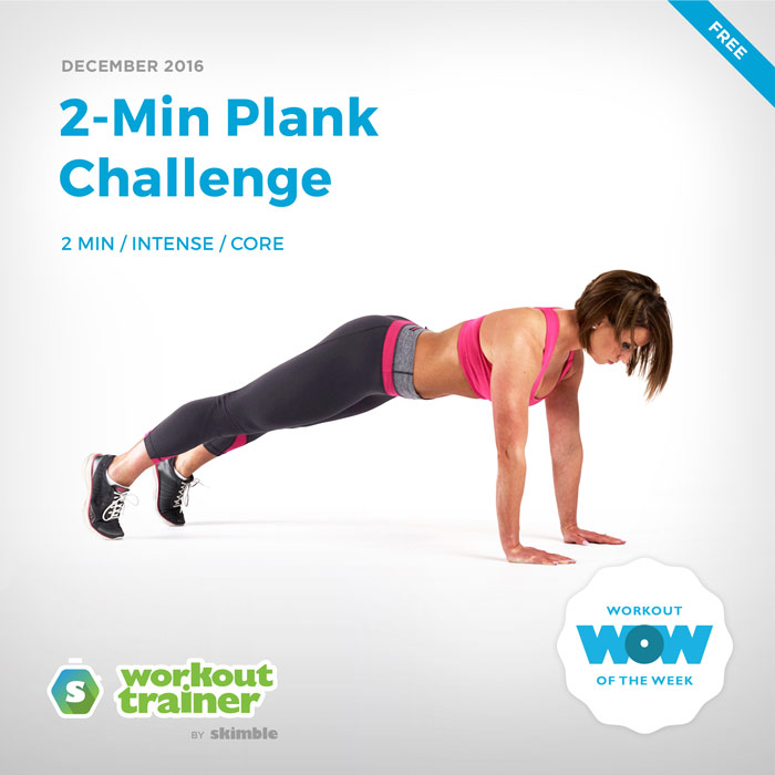 Workout Trainer by Skimble: Free Workout of the Week: 2-Min Plank Challenge