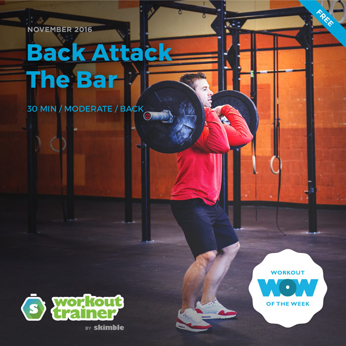 Workout Trainer by Skimble: Free Workout of the Week: Back Attack the Bar