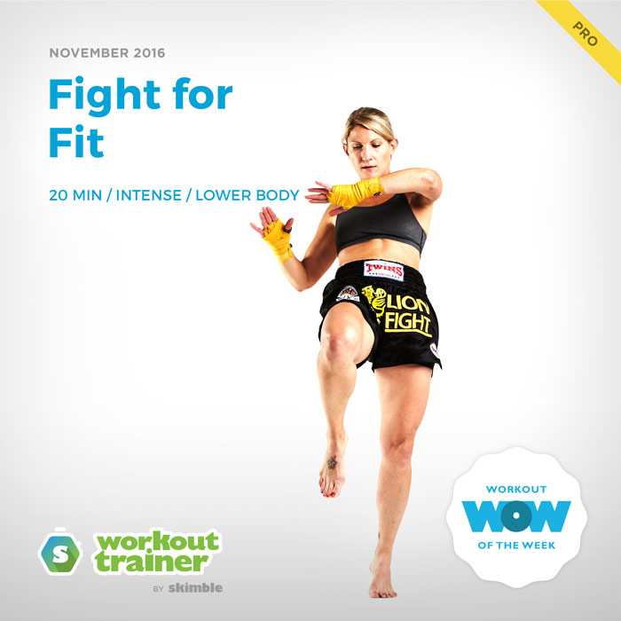 Workout Trainer by Skimble: Pro Workout of the Week: Fight for Fit