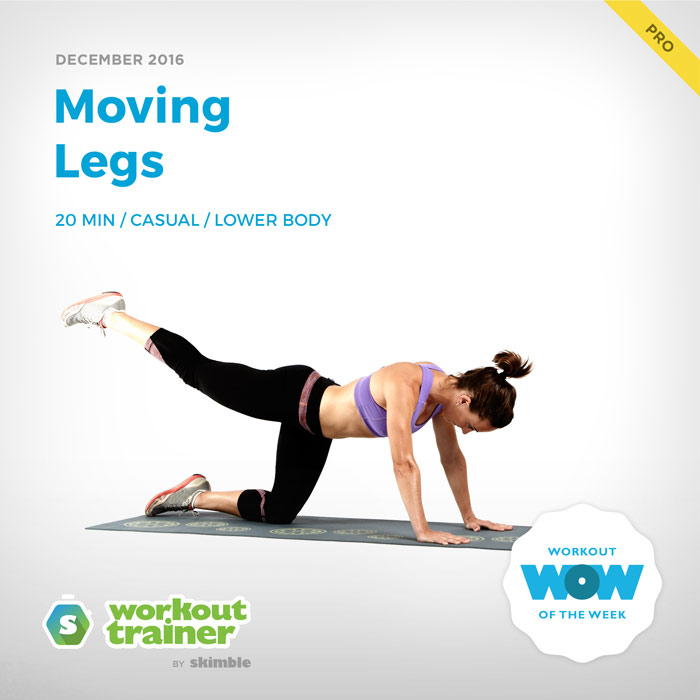 Workout Trainer by Skimble: Pro Workout of the Week: Moving Legs