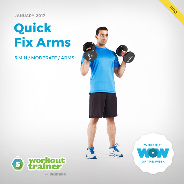 Workout Trainer by Skimble: Pro Workout of the Week: Quick Fix Arms