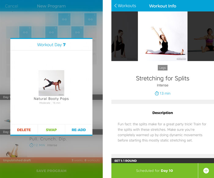 Workout Trainer by Skimble: Advanced Program Creation