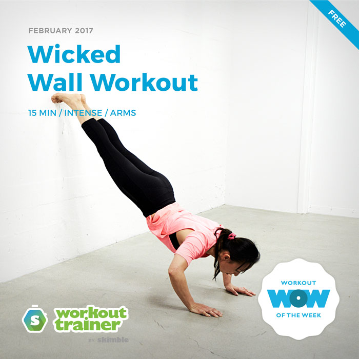 Workout Trainer by Skimble: Free Workout of the Week: Wicked Wall Workout
