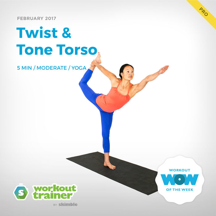 Workout Trainer by Skimble: Pro Workout of the Week: Twist & Tone Torso