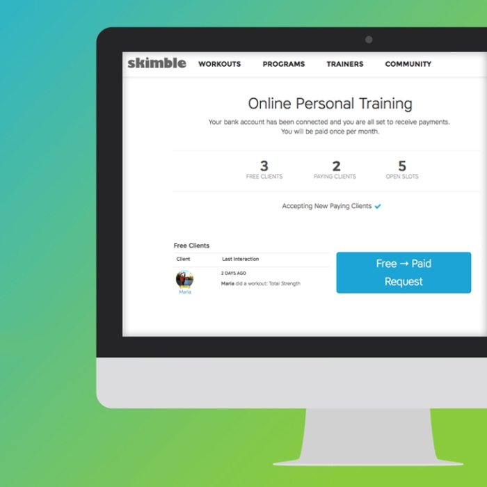 Workout Trainer by Skimble: Online Personal Training: Convert Free to Paid Clients