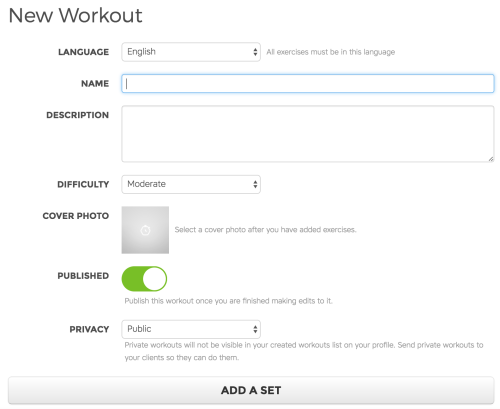 Workout Trainer: How to Create Workout on the Web