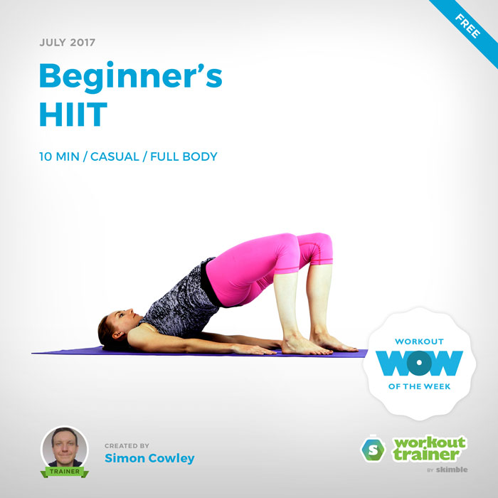 Workout Trainer by Skimble: Free Workout of the Week: Beginner's HIIT by Simon Cowley